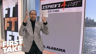 Download Stephen A.'s Top 5: Alabama, then 'straight garbage'   First Take Video