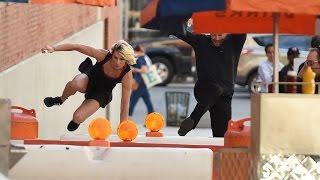 Download Harry vs. American Ninja Warrior Jessie Graff Video