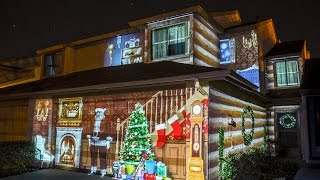 Download christmas house projection mapping Video