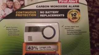 Download First Alert Carbon Monoxide Alarm Costco CO1210 Unboxing Review Video
