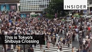 Download Tokyo's Shibuya Crossing is a scramble of people Video