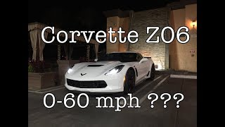 Download First Attempt 0-60 mph On 2017 Z06 Corvette Video