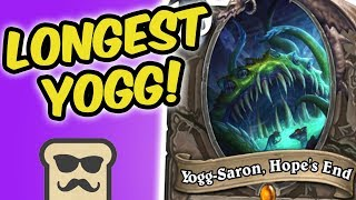 Download IS THIS THE LONGEST YOGG-SARON OF ALL TIME?! | SPELL DRUID | HEARTHSTONE | DISGUISED TOAST Video