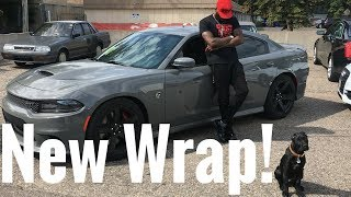 Download My Bro Is Wrapping His Charger Hellcat!! It's About To Be INSANE 🙊 Video