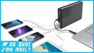 Download Cette batterie portable permet de recharger 20 iPhone ! DQJMM (3/3) Video
