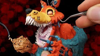 Download Sculpting Twisted Foxy from FNAF: The Twisted Ones - Polymer Clay Video