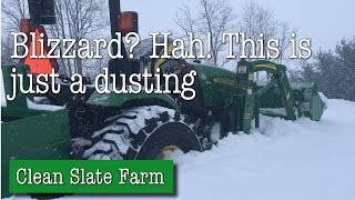 Download Blizzard? Hah! The Tractor got stuck though Video