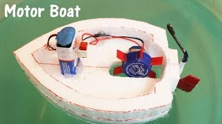 Download How to make an Electric Motor Boat using Thermocol and DC motor Video