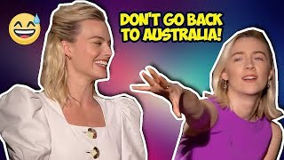 Download Margot Robbie and Saoirse Ronan Making People Laugh Video