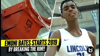Download #1 9th Grader BREAKS THE RIM On Dunk!! Emoni Bates First Game of 2019!!! Video