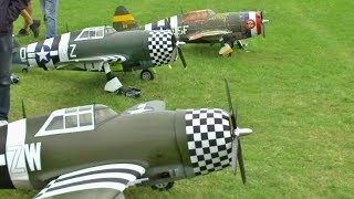 Download 4 X 250cc MOKI POWERED WW2 P-47 THUNDERBOLTS - 1/4 SCALE COMP ARF AT WILLIS WARBIRDS - 2017 Video