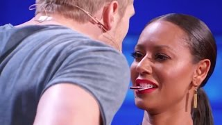 Download Sexy Magician Tries to Kiss Mel B Using His Tricks! Video