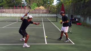 Download Professional tennis training with coach Brian Dabul (Federer, Nadal, Djokovic) Video