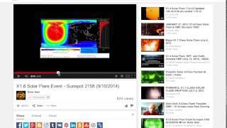 Download Nouvelle X1.6 Flare compression de le tremblement de terre en Chile Video