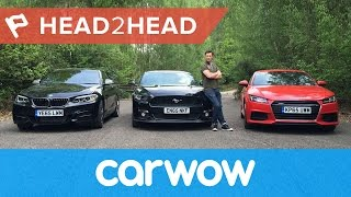 Download Ford Mustang vs Audi TT vs BMW M235i Coupes 2017 review | Head2Head Video