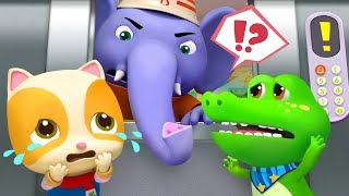 Download The Elevator is Broken | Elephant Firefighter | Play Safe | Nursery Rhymes | Kids Songs | BabyBus Video