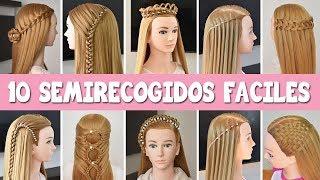 Download 10 Semirecogidos faciles | Peinados con trenzas rapidos para cabello largo y suelto Video