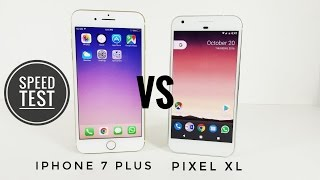 Download Google Pixel XL vs iPhone 7 Plus - Speed Test Video