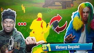 Download THIS FORTNITE HACKER IS 6IX9INE'S Cousin... WEIRDEST FORTNITE DUOS VICTORY OF ALL TIME! Video