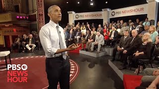 Download Why restrict 'good' gun owners, resident asks President Obama at town hall Video