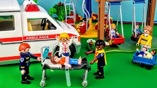Download Call 911! Ambulance, Help! ~ Playmobil Hospital E6 Part 1- Stories with Dolls Video