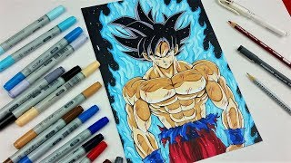 Download Drawing GOKU Limit Breaker | NEW Form! Super Saiyan Silver? | TolgArt Video