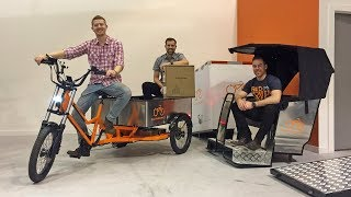Download RadBurro Commercial Ebike Review - $5.5k Light Electric Truck Mover, Food, Electric Pedicab) Video