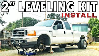 """Download Mod #2 - 2001 F350 Project - 2"""" Leveling Kit install LOOKS SO MUCH BETTER Video"""