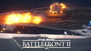 Download STAR WARS: BATTLEFRONT 2 All Space Ship Explosion Scenes (Star Destroyer, Death Star II, X-Wing) Video