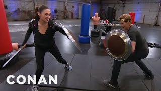 Download Conan Works Out With Wonder Woman Gal Gadot - CONAN on TBS Video