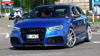 Download Modified Audi RS3 Compilation - Launch Control, Loud Pops & Bangs and more! Video