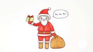 Download วาดซานต้าครอส กันจ้า ☆ Let's draw Santa Claus Video