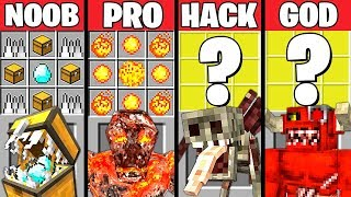 Download Minecraft Battle: SUPER MONSTER CRAFTING CHALLENGE - NOOB vs PRO vs HACKER vs GOD ~ Animation Video
