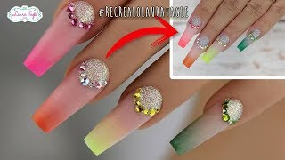 Download Color Ombre Nail Art #RecrealoLauraTagle Video