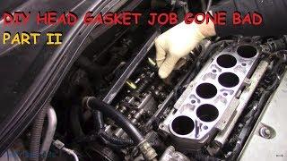 Download Honda DIY Head Gasket - Vehicle Will Not Start Now - Part II Video
