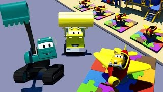 Download Construction Squad: the Dump Truck, the Crane and the Excavator build Little Planes in Car City Video