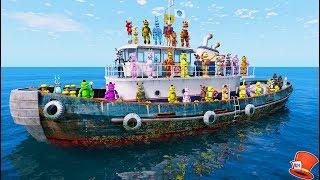 Download ANIMATRONICS LOST AT SEA! (GTA 5 Mods For Kids FNAF RedHatter) Video