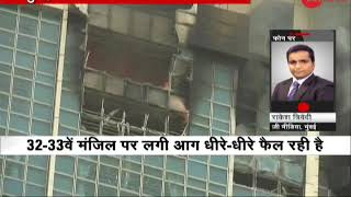 Download Beaumonde Towers in Mumbai's Worli catches Level III fire, 10 fire tenders at the spot; all rescued Video