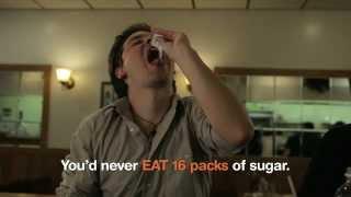 Download Man Drinking Sugar - Rethink Sugary Drink Video