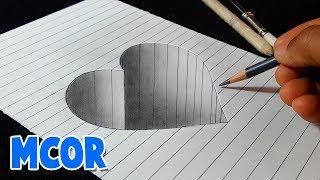 Download Como Dibujar un Corazón en Hueco 3D Paso a Paso Video