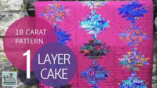 Download 18 Carat Quilt Pattern Video Tutorial - Layer Cake Quilt Pattern Video
