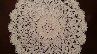 Download Crochet Doily - Splendid Pineapples Doily Part 1 Video