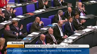 Download Debatte zur Rückführung syrischer Flüchtlinge vom 22.11.17 Video