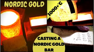 Download CASTING A SOLID NORDIC GOLD BAR - nordic gold bullion bar casting at home Video