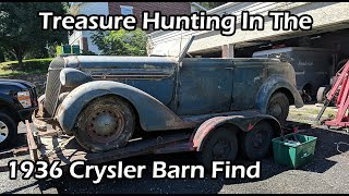 Download Treasure Hunting in the 1936 Chrysler C8 Airstream Convertible Sedan Barn Find Video