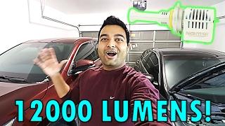 Download NEW ULTRA BRIGHT 12000 LUMENS!!! (Headlights Next Gen LED!!) Video