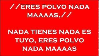 Download ERES POLVO Y NADA MAS THOMAS HERNANDEZ pista y letra 041913 Video