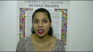 Download Brisa Ayelen González, Argentina, reading article 22 of the UDHR in Spanish Video