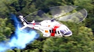 Download TURBINE EXPLOSION AW-139 BIG SCALE RC MODEL TURBINE HELICOPTER / Pöting Turbine Meeting 2015 Video
