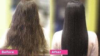 Download Permanent Hair Straightening at home with all natural ingredients | Silk & shine Video